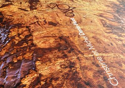 Photo gros plan de la couverture du calendrier de l'imprimerie Escoubiac à Graulhet