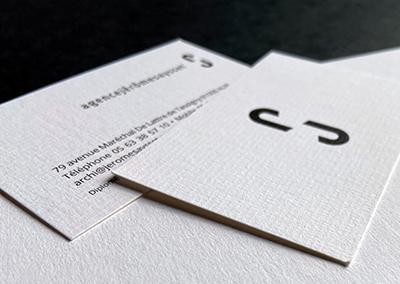 Carte de visite et carte de correspondance pour Jerome Saysset, Architecte Tarn et Aveyron