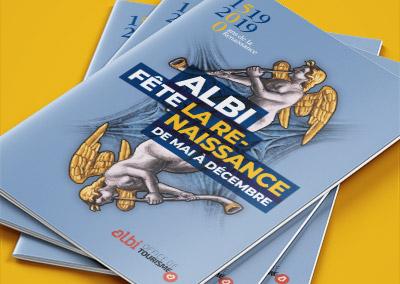 Couverture d'un programme évènementiel pour l'Office de Tourisme d'Albi
