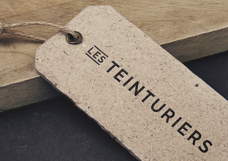 Création du labelling pour la marque de vêtement Les Teinturiers