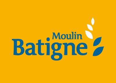 Logotype du Moulin Batigne, situé à Réalmont dans le Tarn.