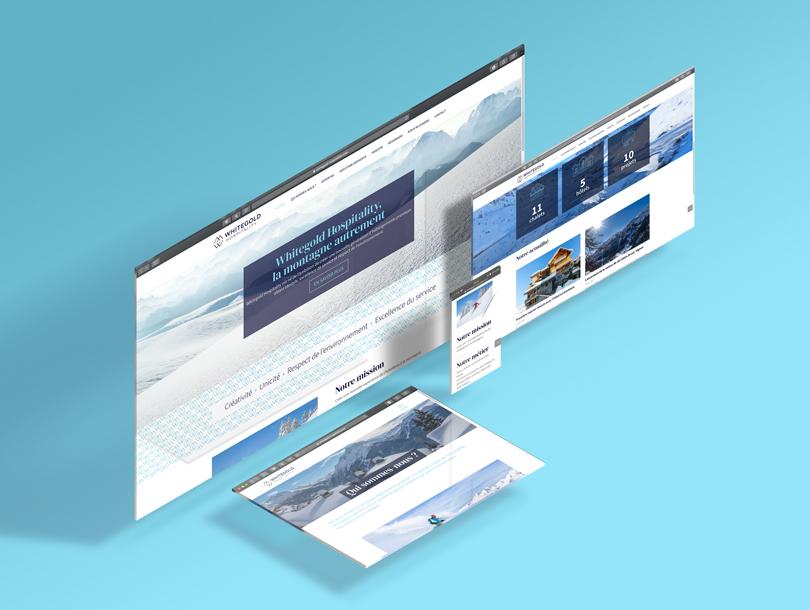 Webdesign responsive pour le site de WhiteGold Hospitality